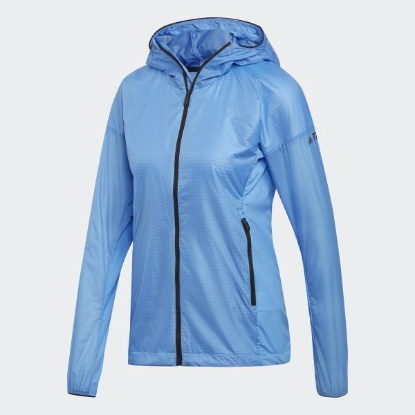 adidas Terrex Agravic Alpha Hooded Shield Jacket - Blue | adidas US