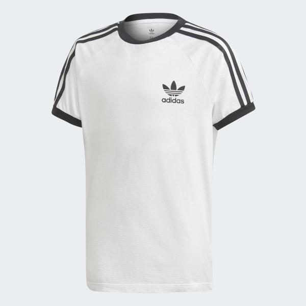 adidas 3 stripes tee white