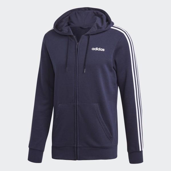 adidas Essentials 3 Streifen Trainingsjacke Blau | adidas Deutschland