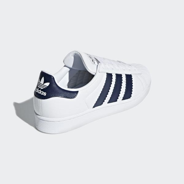 adidas superstar navy blue and bianca
