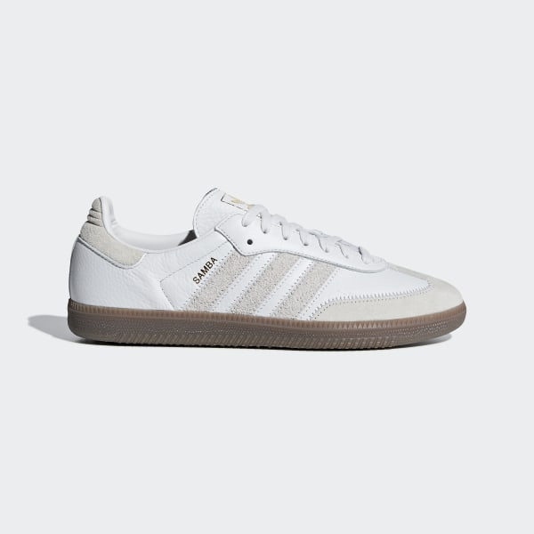 Adidas Samba trainers Men in White Black leather and suede
