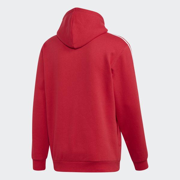 Sweat shirt à capuche 3 Stripes Rouge adidas | adidas Switzerland