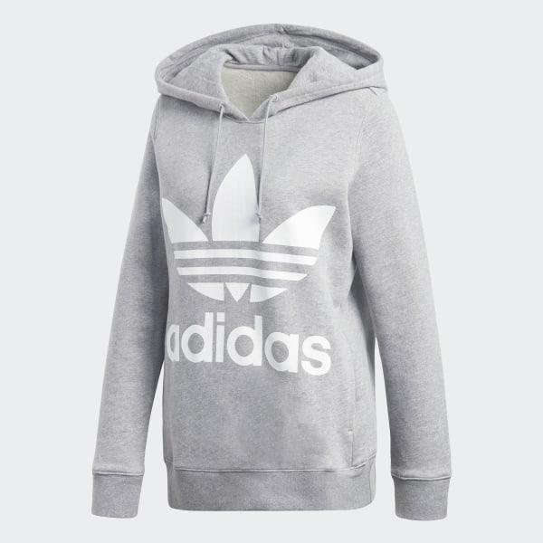 Sweat shirt à capuche Trefoil Gris adidas | adidas France