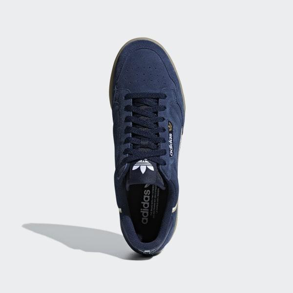 adidas continental 80 hommes bleu suede