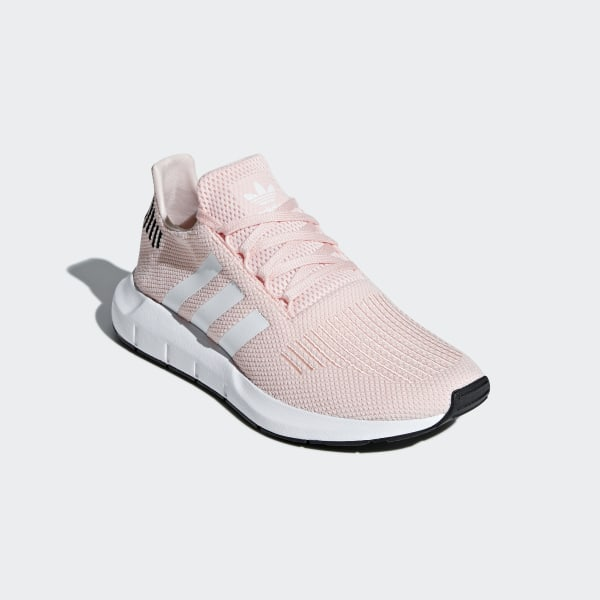ADIDAS ORIGINALS Embroidered stretch knit sneakers Baby pink