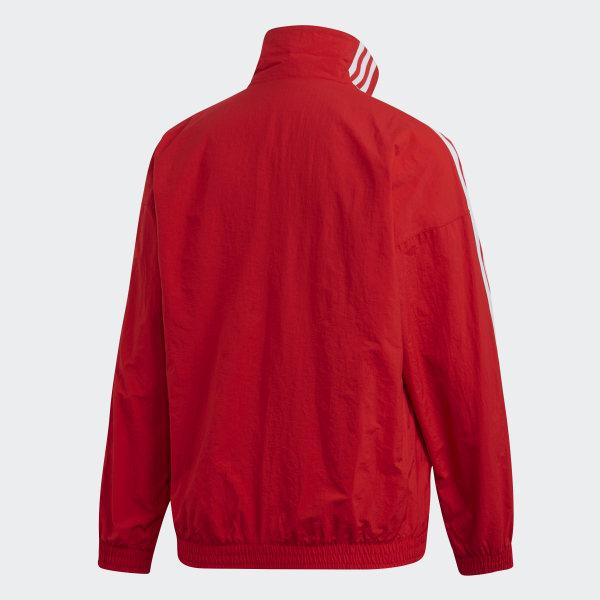 adidas Originals Lock Up Track Top Jacket in Scarlet (Red