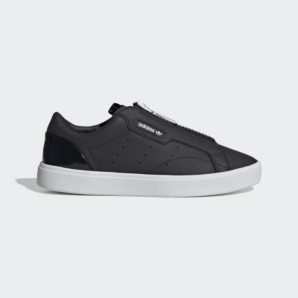 Adidas Sleek Mid W Core BlackCore BlackCrystal White Girl Shoes