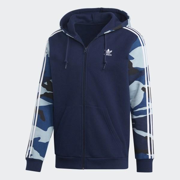 rot blau camo hoodie adidas