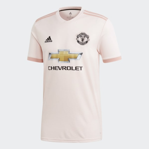 Pinkes Adidas Manchester United 18 19 Auswärtstrikot