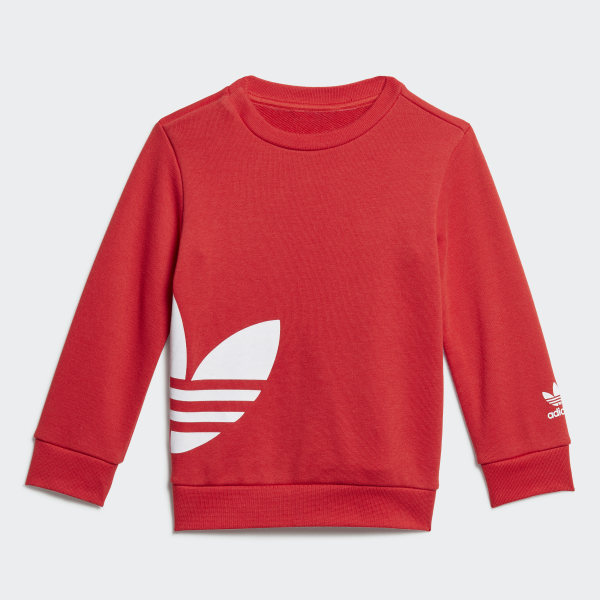 adidas Originals Big Trefoil Kids' Red Hoodie