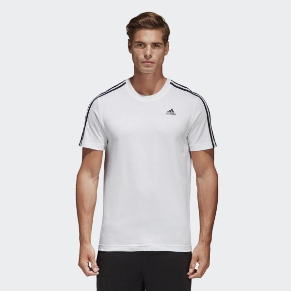 adidas Essentials Classics 3 Stripes T shirt Wit   adidas Officiële Shop