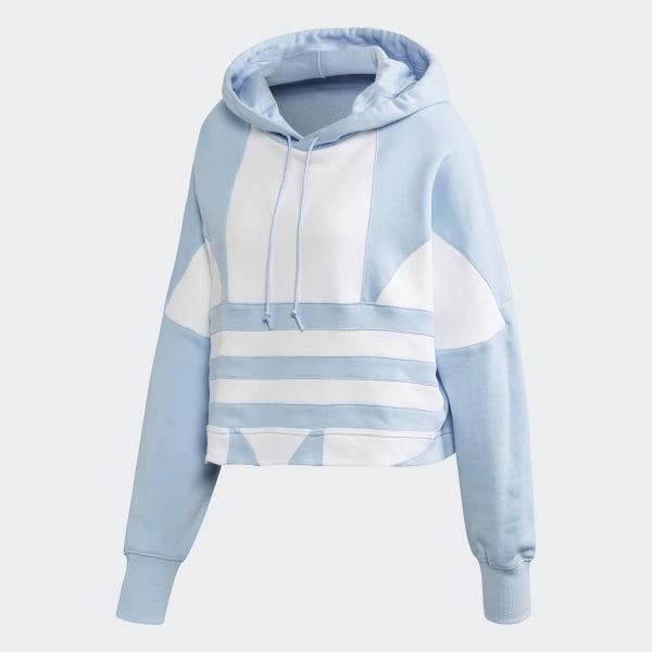 adidas Originals Women's Cropped Large Logo Hoodie