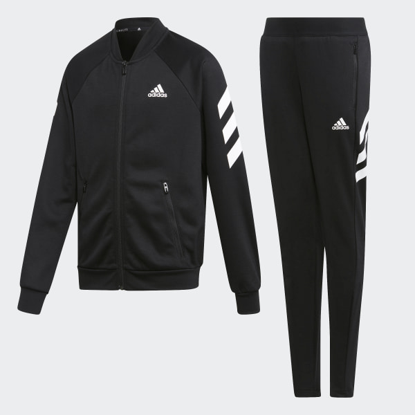 Schwarzer Adidas Trainingsanzug für Jungs in der Größe 116