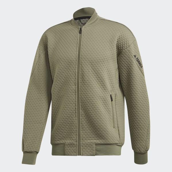 adidas Terrex Hike Fleece Jacket Green   adidas US