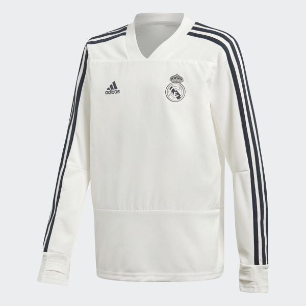 el más nuevo 98934 d69f8 Sudadera entrenamiento Real Madrid - Blanco adidas | adidas España