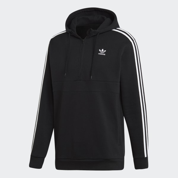 adidas 3 Stripes Hoodie Black | adidas US