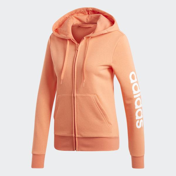 adidas   Haze Coral White   Essentials Linear Pullover