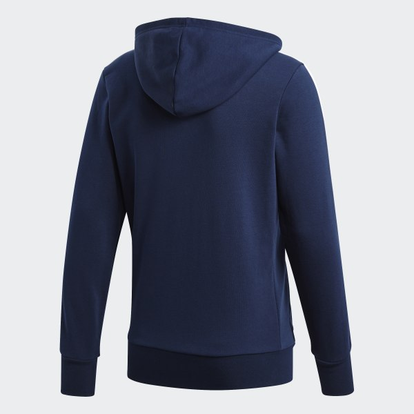adidas Essentials 3-Stripes Hoodie - Blue | adidas US