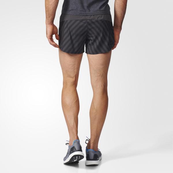 adidas adiZero Mens Running Split Shorts Black