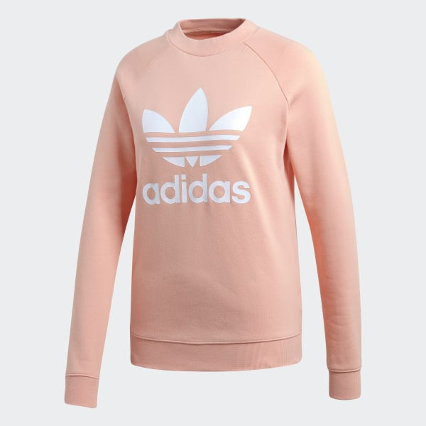 adidas Trefoil Crewneck Sweatshirt Pink   adidas US