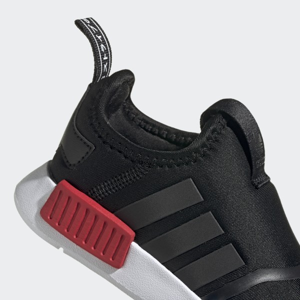 adidas NMD 360 Slip On Athletic Shoe Baby Toddler Core Black Red Blue