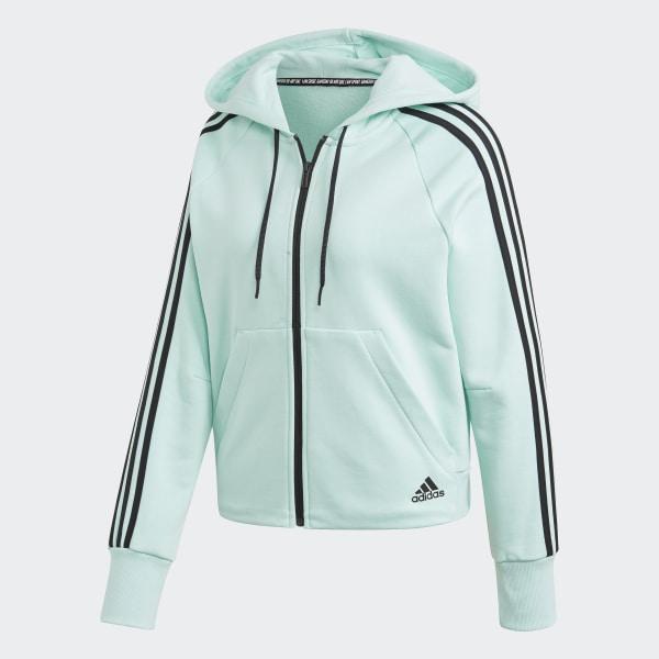 adidas Must Haves 3 Streifen French Terry Kapuzenjacke Blau   adidas Deutschland