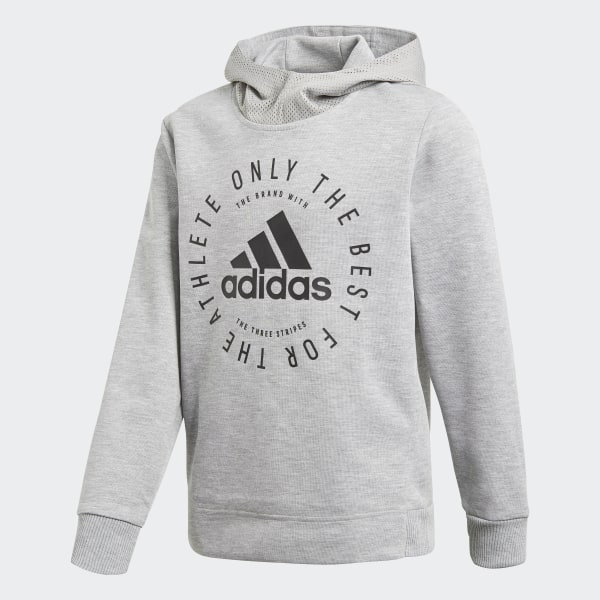adidas Sport ID Hoodie Jungen medium grey heather black