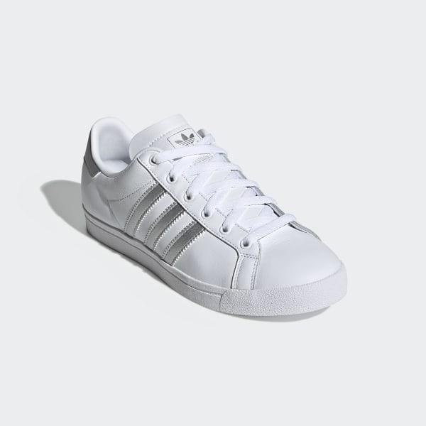adidas Coast Star W White Silver Metallic Black Schuhe