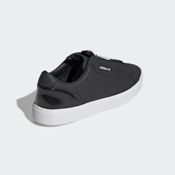 adidas Originals Sleek Zip Womens Black Sneaker