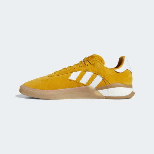adidas Originals Mens 3ST.004 Skateboarding Shoes YellowCloud WhiteGum EE7669