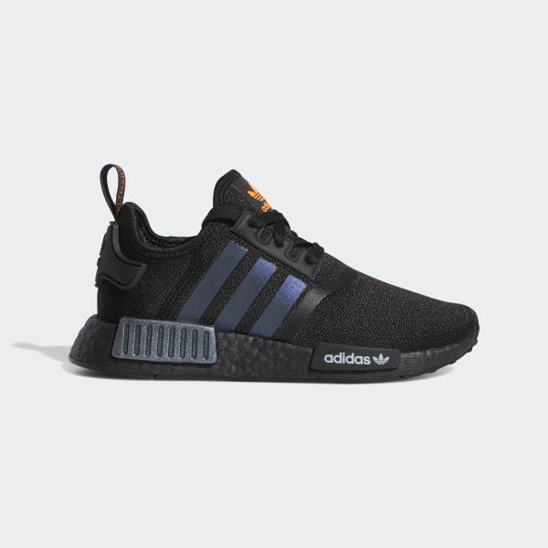 Mens adidas NMD R1 Athletic Shoe Core Black Solar Orange