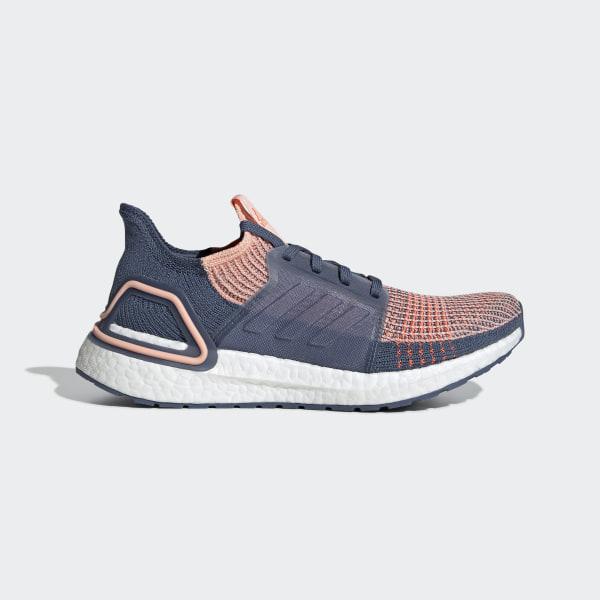 adidas Ultra Boost 19 Running Damen Weiss Blau 37 1/3