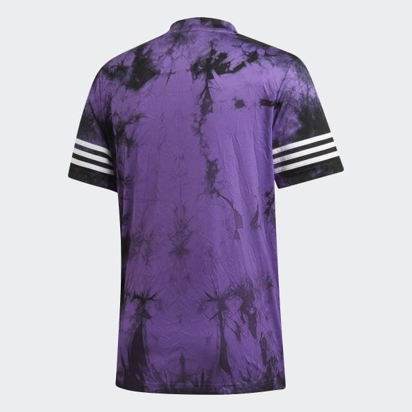 adidas Originals T Shirt Space Dye Jersey Active Purple