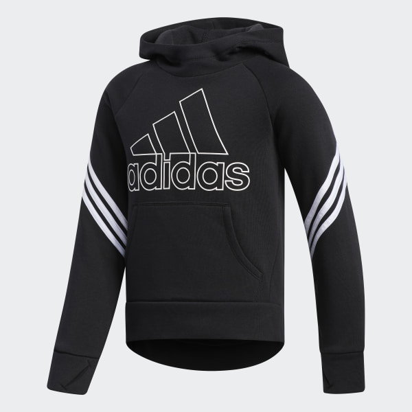 adidas French Terry Pullover Hoodie Black | adidas US
