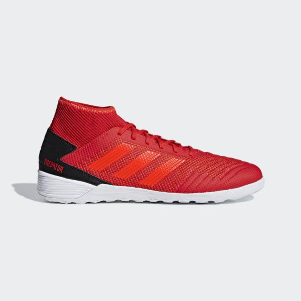 united kingdom on feet shots of skate shoes adidas Predator Tango 19.3 Indoor Boots - Red | adidas UK