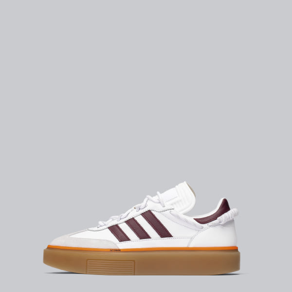 IVY PARK Super Sleek 72 Shoes Cloud White / Maroon / Dash Grey FX3157