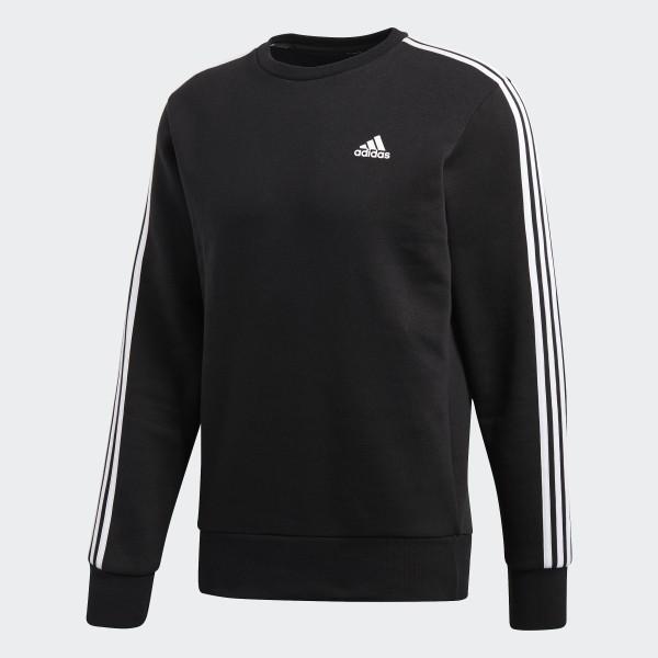 adidas Essentials 3 Streifen Sweatshirt Schwarz | adidas Austria
