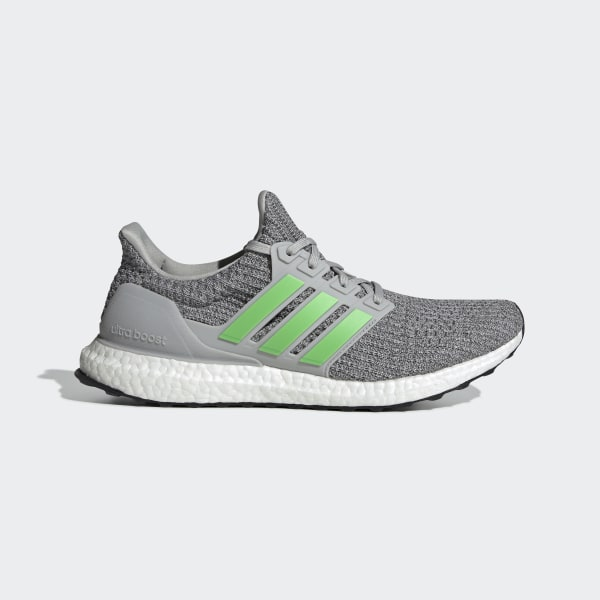 Details about Adidas UltraBoost 4.0 Grey Lime Green Size 8 Men's F35235 New In Box Gray Boost