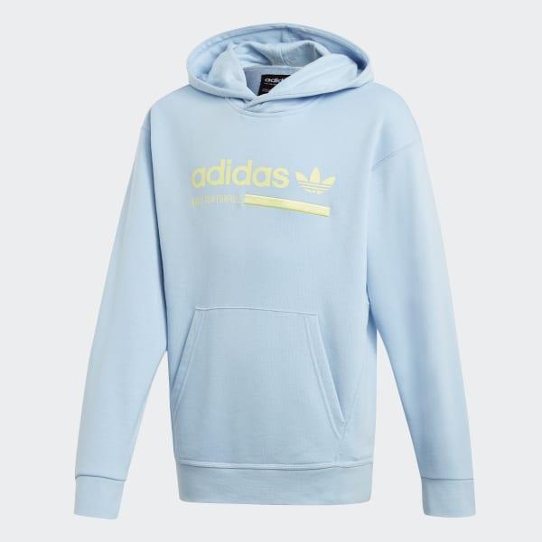 Adidas blue sweatshirt with no hood