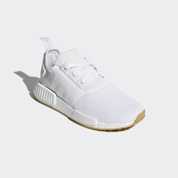 Adidas NMD_R1 Size 10 Mens WhiteGum D96635 Athletic Shoes