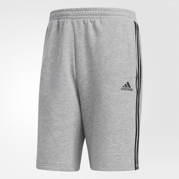 adidas Essentials 3 Stripes Shorts Grey   adidas US