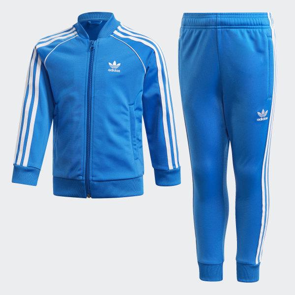 adidas trainingsanzug blau