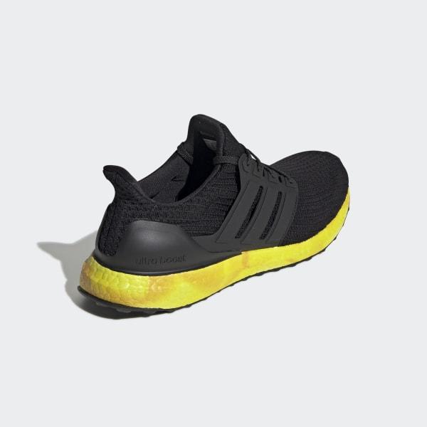 New Adidas Men/'s Ultraboost Rainbow Running Shoes Sneakers Black//Yellow FV7280