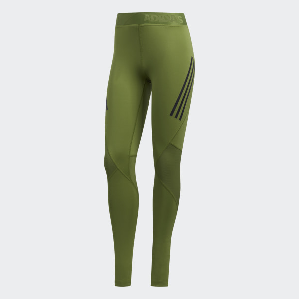 adidas Alphaskin Sport 3 Stripes lange tights Grønn | adidas Norway
