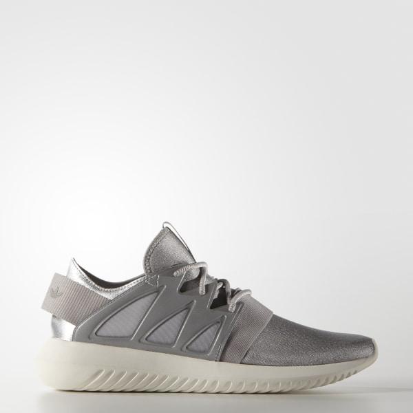 Adidas originals tubular viral w sneakers beige plateado