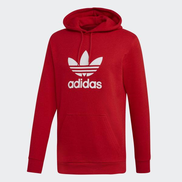 Sweat shirt à capuche Trefoil Rouge adidas | adidas Switzerland