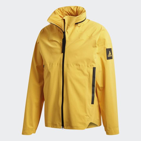 adidas MYSHELTER Rain Jacket Yellow | adidas UK