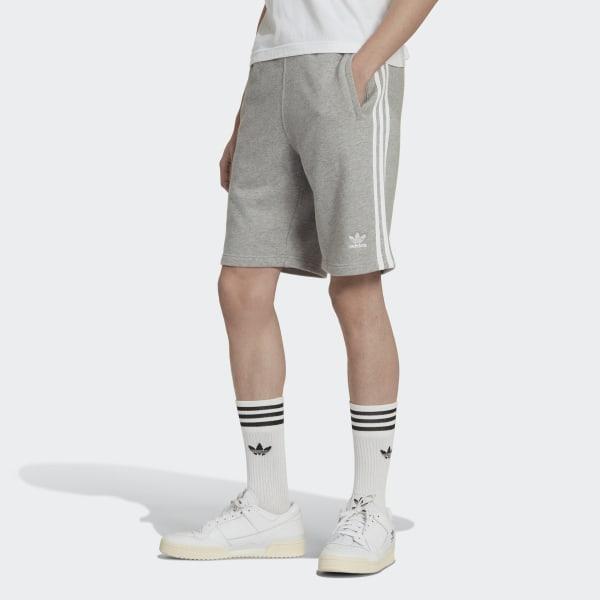 adidas 3 Streifen Shorts Grau | adidas Deutschland