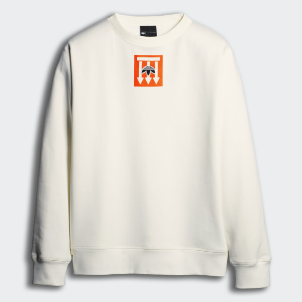 cheaper new appearance on feet at adidas Originals by Alexander Wang Graphic Crewneck - White | adidas  Australia