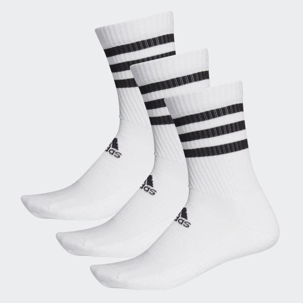 adidas 3 Streifen Cushioned Crew Socken, 3 Paar Weiß   adidas Austria
